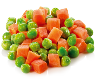 Peas and diced carrots