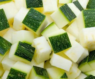 Courgette diced